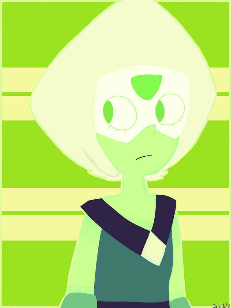 ... I tried to draw Peridot. It's the first time sorry not sorry- it sucks so much but I love too much Peridot :'0