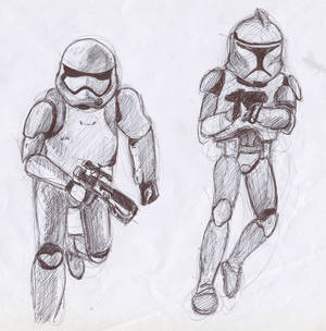 Stormtroopers and clones