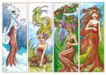 Seasonal Dryads by Gwennafran
