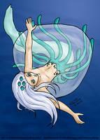 Jellyfish-man by Gwennafran