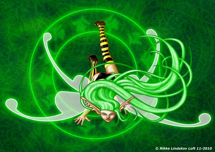 Neon Green Fairy by Gwennafran on DeviantArt Neon Fairy Wallpaper