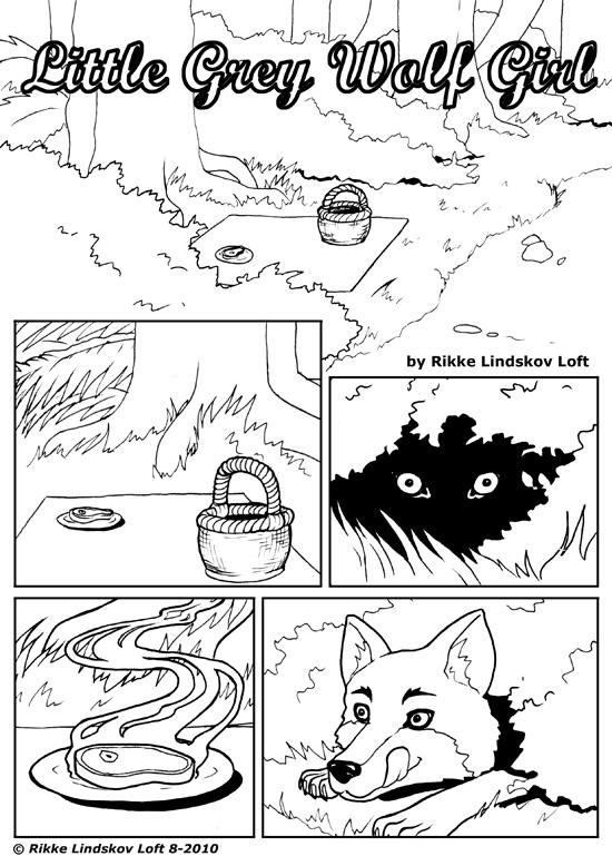 Little Grey Wolf Girl page 01 by Gwennafran