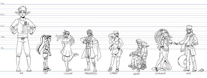 OC Pageant Round 5 - First 8 Contestants (WIP)