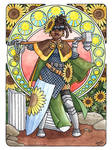 Flowery DND - Sunflower Human Cleric by Gwennafran