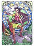 Flowery DND - Lily of the Valley Halfelf Ranger by Gwennafran