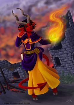Tana - My Tiefling Wizard