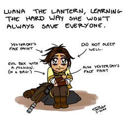 Luana is sad