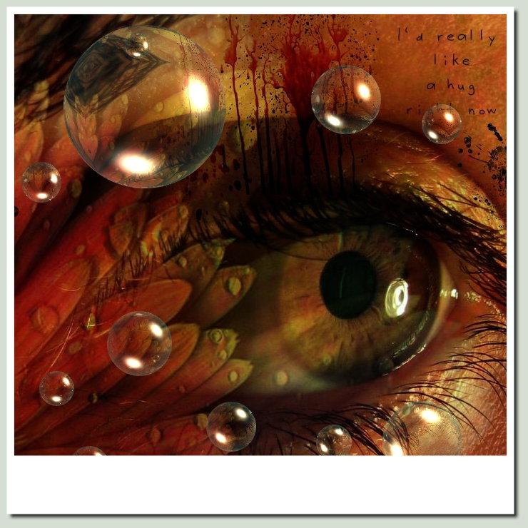 eye reflection by marjol3in