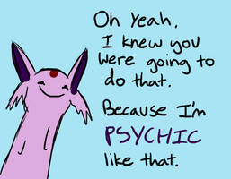 Espeon- Psychic like that by MasterOfGeckos