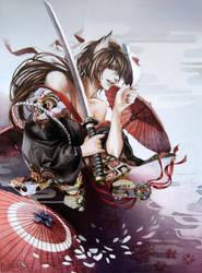 kimono and mask by RINrumiKA
