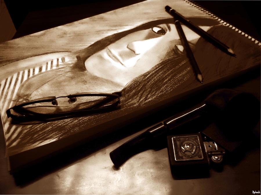 pencil portrait. by psychopathic-jad