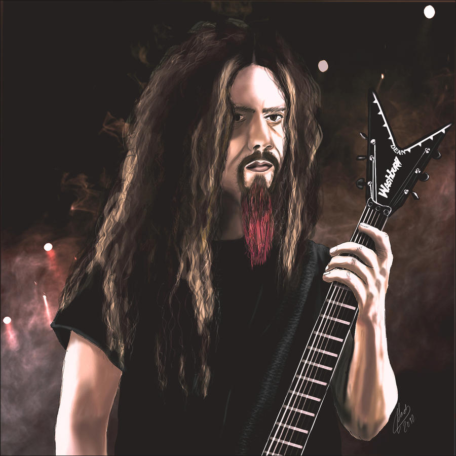 Dimebag darrell digital portrait by psychopathic-jad