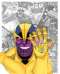 Thanos the Mad Titan by Gianfranco Autilia