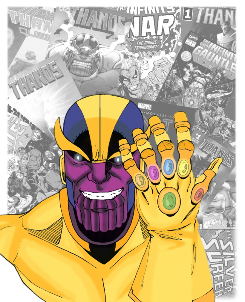 Thanos the Mad Titan by Gianfranco Autilia