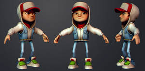 Subway Surfers Jake Fanart 3 by polyphobia3d
