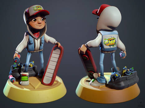 Subway Surfers Jake Fanart in Marmoset by polyphobia3d