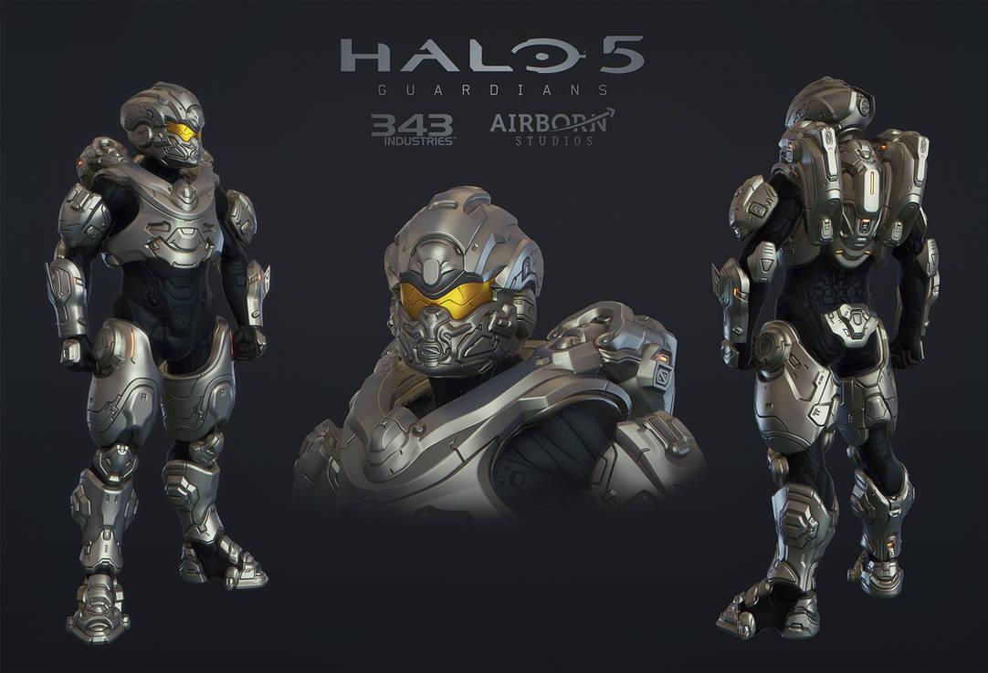Halo 5 Multiplayer Armor Teishin by polyphobia3d on DeviantArt