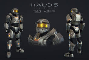 Halo 5 Multiplayer Armor Mark V Alpha by polyphobia3d