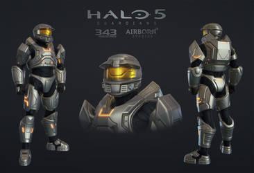 Halo 5 Multiplayer Armor Mark V Alpha by polyphobia3d