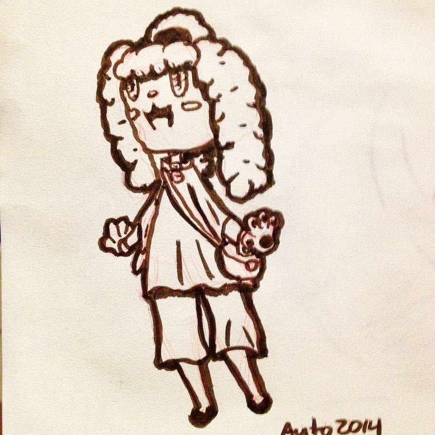 Practice Sketch Chibi Poodle Anthro By Auto Nin13 On