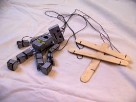 Mr Robo puppet by DESIGNOOB
