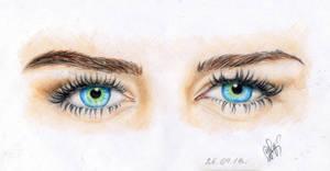 Miley Cyrus's eyes by OlyaGvozdeva