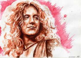 Robert Plant Portrait by OlyaGvozdeva