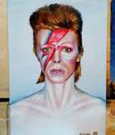 Ziggy Stardust Oil Portrait