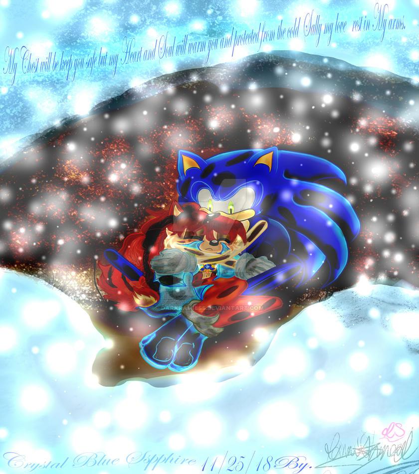 Blue Sapphire Love Sonic and Sally Acorn by Darkramiess