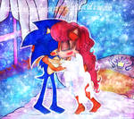 Princess Sally and young Sonic can you feel love by Darkramiess