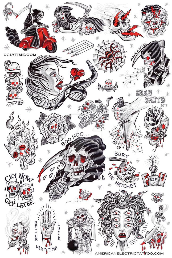 Tattoo Flash Poster 1 By Creaturetown On Deviantart