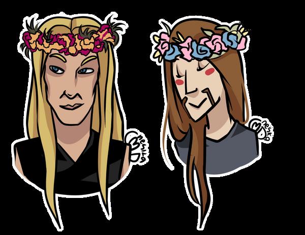 Flower crowns by NeskaMD