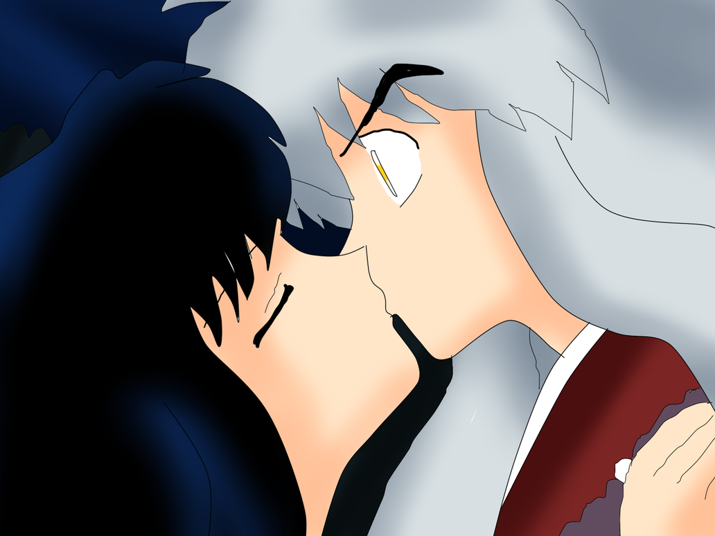Kikyo kisses Inuyasha by FreddyKruegerFan12 on deviantART