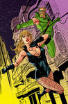 Black Canary and Green Arrow.