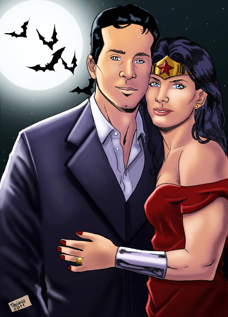 Bruce Wayne and Wonderwoman_M by Troianocomics