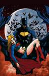 Batman and  Supergirl.
