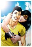 Batman and Wonderwoman.