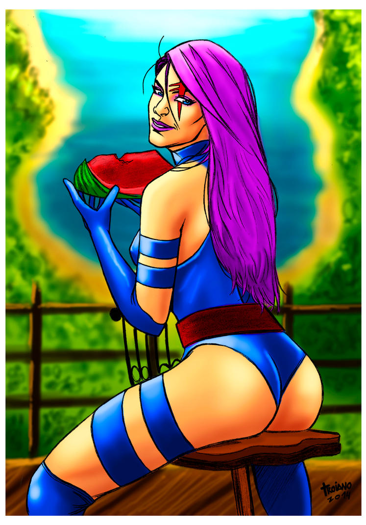 Psylocke in Forest. by Troianocomics