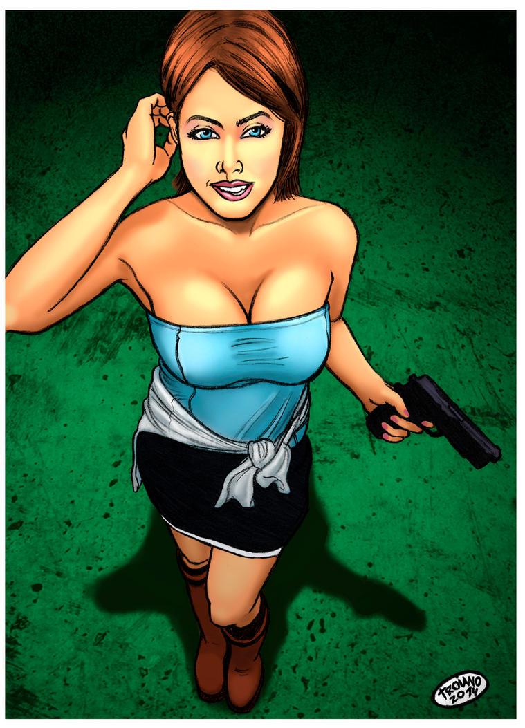 Jill Valentine. by Troianocomics