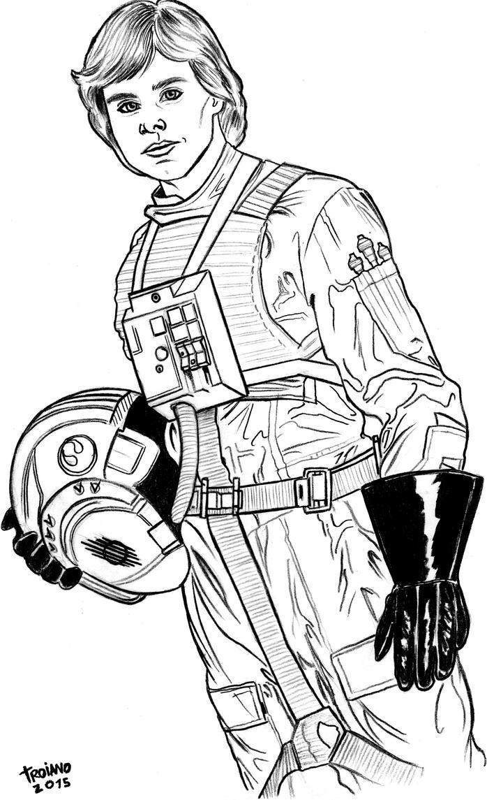 Luke Skywalker. by Troianocomics