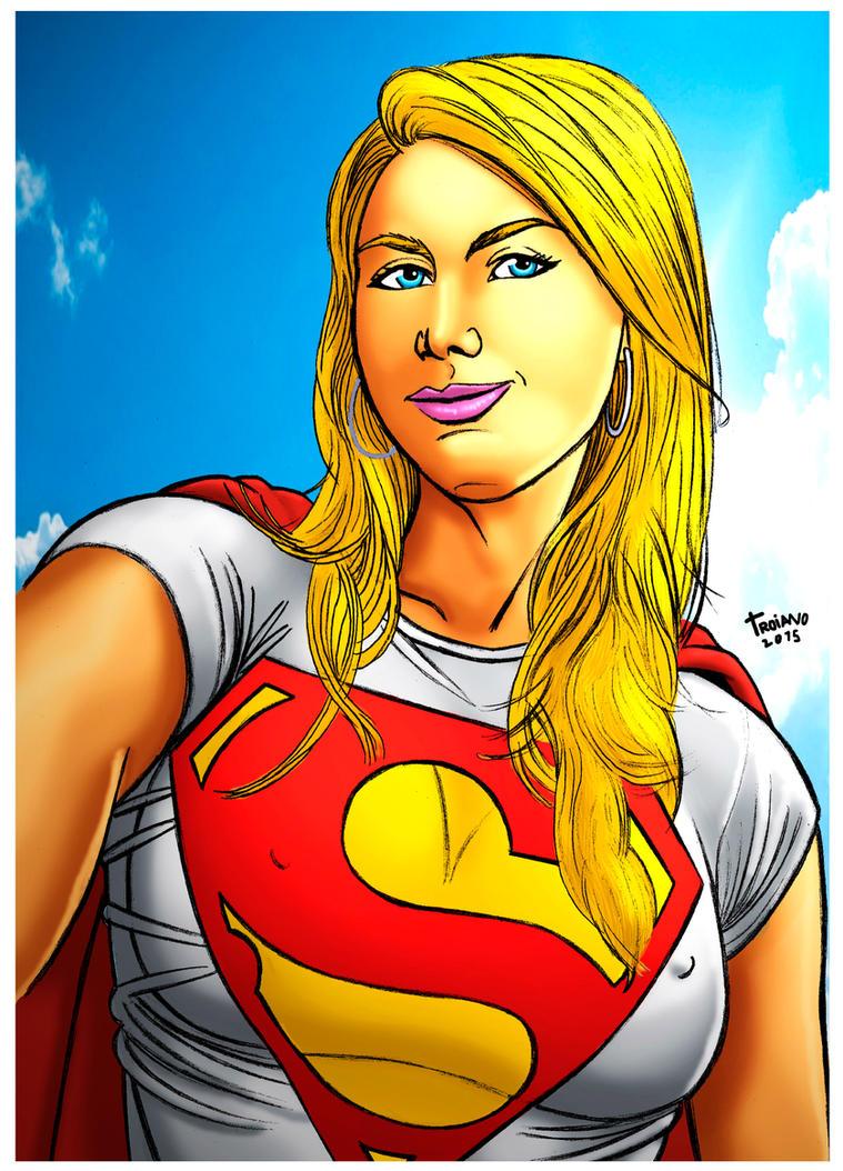 Supergirl Selfie. by Troianocomics