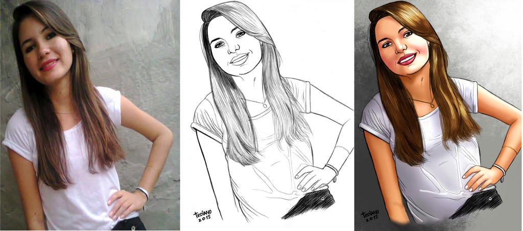 Anna Medeiros_Portrait. by Troianocomics