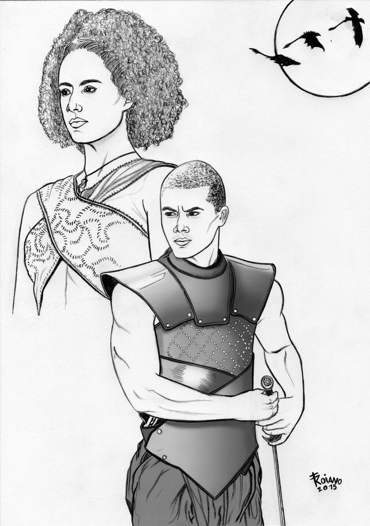 Grey Worm and Missandei. by Troianocomics