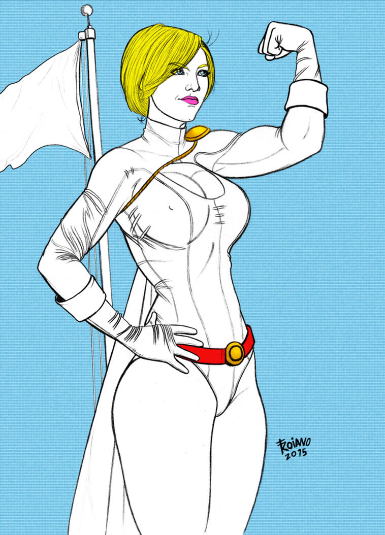 Powergirl_Pose. by Troianocomics