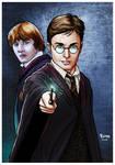 Harry Potter and Rony.