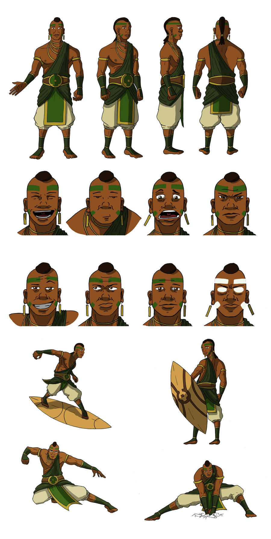 Character Design Avatar The Last Airbender : Atla original character design avatar jabali by