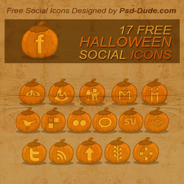Halloween Pumpkin Social Icons