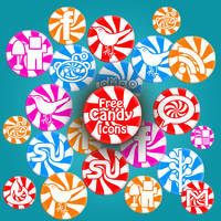Candy Social Icons by PsdDude