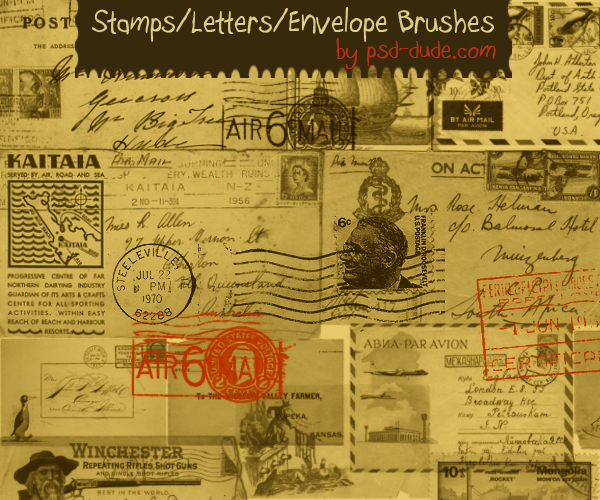 Stamp and Letter Brushes