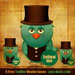 Twitter Bird Icon by PsdDude